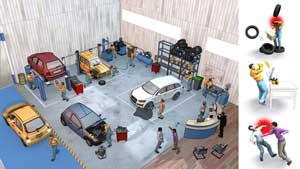 Préventions des risques en atelier de réparation automobile
