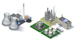 Vues d'ensemble et éclatés de bâtiments industriels